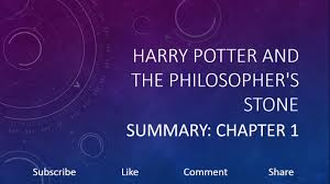 harry potter and the philosopher s summary chapter 1