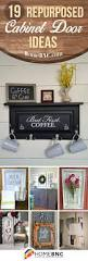 19 lovely repurposed cabinet door ideas to liven up your decor