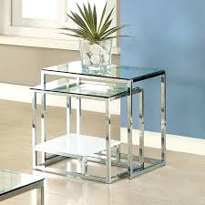 Mesmerizing Stackable End Tables 3 Piece Nesting Tables Stack