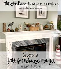how to create a gorgeous fall farmhouse mantel in just 7 easy steps