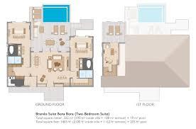 1 Meter To Square Feet Brando Suite Bora Bora Two Bedroom Suite