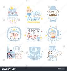 little prince set prints infant boy stock vector 576165217