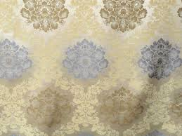 grey and gold floral damask curtain fabric by the yard upholstery