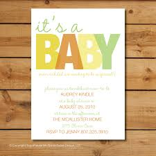 Unique Baby Shower Invitation Cards Gender Neutral Baby Shower Invitations Theruntime Com