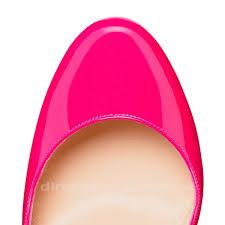 christian louboutin bianca platform patent pumps pink shoes