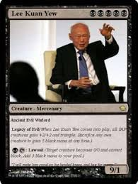 Lee Kuan Yew Meme - this meme re appropriated promotional materials given out by the