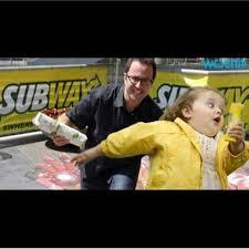 Running Kid Meme - jared fogle subways meme