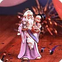 1989 hallmark ornament snowplow santa hallmark keepsake