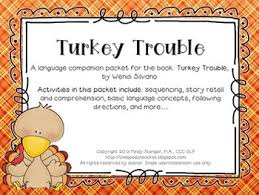turkey trouble speech and language activities book companion