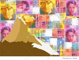 matterhorn with swiss francs stock illustration i1649342 at