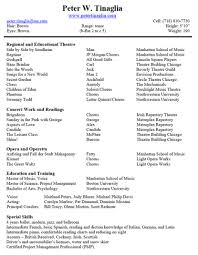 Child Actor Resume Sample Musical Theater Resume Sample Resume For Your Job Application