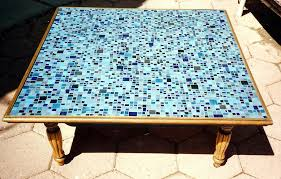 inspiring mosaic coffee table mosaic tiled coffee table bronze hex