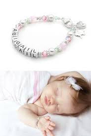 infant name bracelet baby girl gift baby name bracelet sterling silver