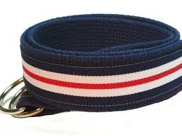 preppy ribbon belts women s canvas belt white blue d ring belt preppy