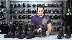 waterproof motorcycle riding boots boot guide touring u0026 commuting 2012 at revzilla com youtube