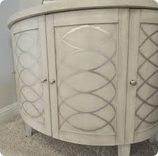possible diy touch to any piece of furniture silver metallic