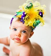 mardi gras babies mardi gras the top hair bow headband
