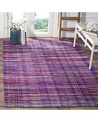 Purple Rug Sale Slash Prices On Safavieh Rag Rug Collection Rar240c Purple And