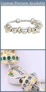 name charms forever in my heart birthstone and name charm bracelet with up to