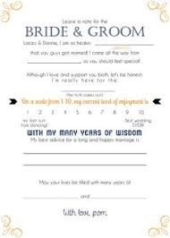 wedding wishes and advice cards fill in the blank wedding advice card wedding advice