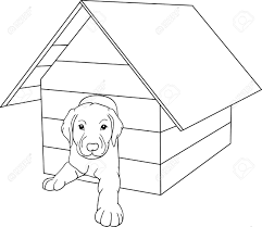 house outline house dog isolated on background royalty free cliparts vectors