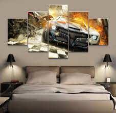 compare prices on nascar decor online shopping buy low price 5 piece canvas art car poster nascar home decoration modular picture on canvas hd print canvas
