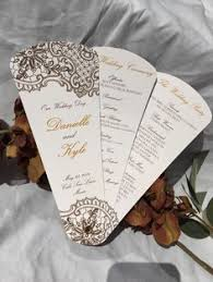 fan programs which wedding program format is right for you wedding programs