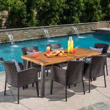 home loft concepts arica 7 piece dining set u0026 reviews wayfair