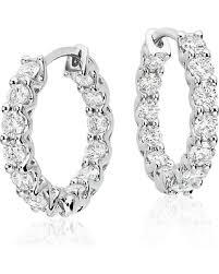 white gold diamond hoop earrings shopping s deal on diamond hoop earrings in 18k