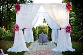 chuppah white fabric flowers wedding arches diy wedding u2022 26468