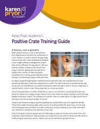 crate training positive crate training guide karen pryor academy
