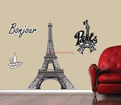 Eiffel Tower Wall Decals Choose Size Paris Eiffel Tower Decal Removable Wall Sticker Home