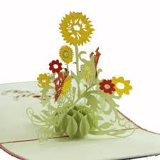 3d Invitation Card 3d Pop Up Paper Cut Greeting Card Postcard Flower Birthday