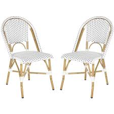 salcha grey white indoor outdoor stackable side chair set of 2