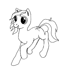 my mlp sketch off a base no color by captainmane on deviantart
