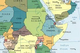 africa map khartoum map of east africa