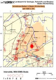 Baden Wuttemberg Lgrb Erdbeben Karten Des Erdbebendienstes