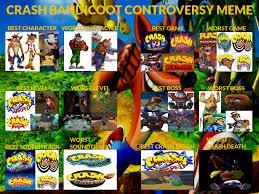 Crash Bandicoot Meme - my crash bandicoot controvesy meme by rizegreymon22 on deviantart