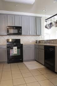 Grey Cabinets In Kitchen by Grey Cabinets Black Appliances Kitchen Gusto U0026 Grace