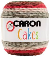 amazon com caron cakes self striping yarn red velvet 17005