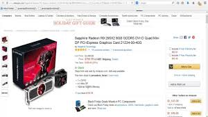 ssd sale black friday amazon sapphire radeon r9 295x2 8gb gddr5 dvi d quad mini graphics card