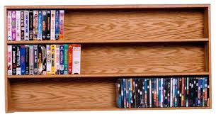 Media Storage Furniture Modern by Solid Oak Wall Or Shelf Mount Dvd Vhs Tape Book Cabinet Modern