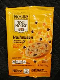 nestle toll house halloween chocolate chip cookies 2014 package