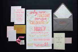 wedding invitations size arley s neon wedding invitations