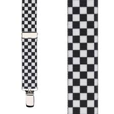Black And White Checkered Checkered Suspenders For Kids Suspenderstore