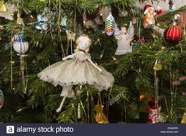 hand made traditional christmas tree fairy decoration in white