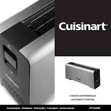 toaster kinderk che toaster 1 fente cuisinart cpt2000e notice