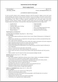 Maintenance Resume Examples Automotive Service Manager Resume Sample Resume For Your Job