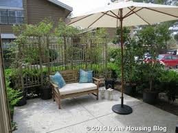 Patio Half Wall Open House Review 132 Pineview Irvine Housing Blog