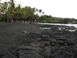 black sand beach big island file black sand beach punalu u beach big island of hawaii hawaii